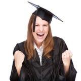 Graduate woman Stock Photography