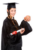 Graduate woman Royalty Free Stock Photography