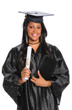 Graduate Woman Holding Diploma Royalty Free Stock Photography