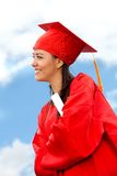 Graduate woman portrait Royalty Free Stock Image