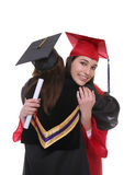 Graduate Women Friends Stock Images