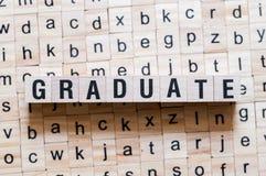 Graduate word concept stock photos