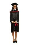 Graduated african-american student girl Stock Image