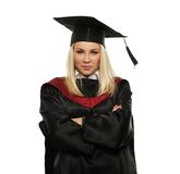 Graduated blond student girl Royalty Free Stock Images