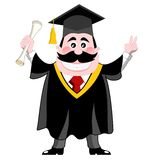 Graduated man isolated Stock Photo