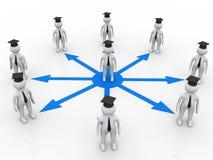 Graduated communication Stock Images