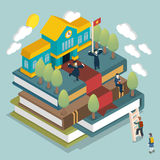Graduated concept vector illustration