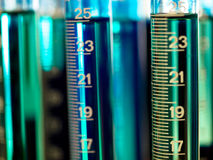 Graduated cylinders Royalty Free Stock Photos
