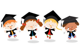 Graduated Kids Stock Images