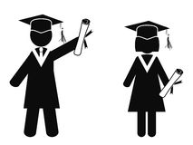 Graduated stick figures Stock Photo