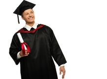 Graduated student man Stock Photos
