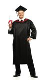 Graduated student man isolated on white Royalty Free Stock Photography
