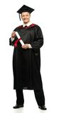 Graduated student man isolated on white Royalty Free Stock Photos