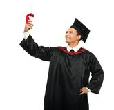 Graduated student man isolated on white Royalty Free Stock Image