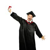 Graduated student man isolated on white Stock Photos