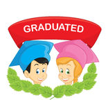 Graduated students vector illustration. EPS 8 Royalty Free Stock Photography