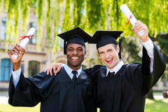 Graduated together. Royalty Free Stock Photography