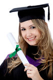 Graduated woman Stock Images