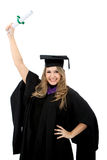 Graduated woman Royalty Free Stock Photos