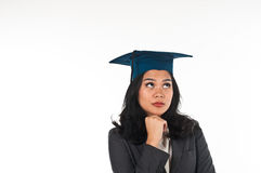 Graduated woman confusing her future career Stock Photos