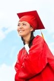 Graduated woman outdoors Royalty Free Stock Images