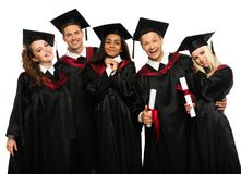 Graduated young students Stock Photo
