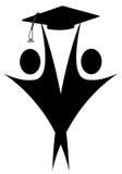 Graduates royalty free illustration