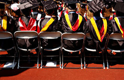 Graduates. Waiting for ceremony to finish Royalty Free Stock Image