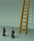 Graduates Climbing Ladder Stock Photography