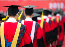 Graduates during commencement Stock Images