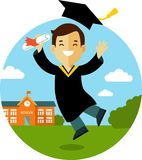 Graduates concept character Royalty Free Stock Photography