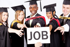 Graduates grab job. Group of graduates grab job Stock Photography