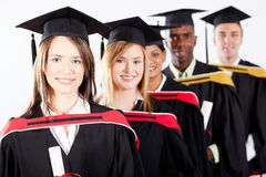 Graduates at graduation Stock Photography