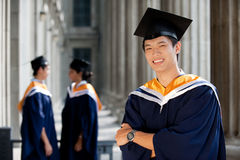 Graduates in Hallway Royalty Free Stock Photography