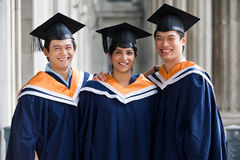 Graduates In Hallway Stock Images