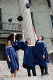 Graduates Hat Toss Stock Images