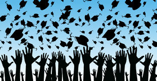 Graduates Landscape Version Stock Image
