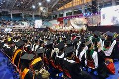 Graduates Listen to a Speech royalty free stock photo