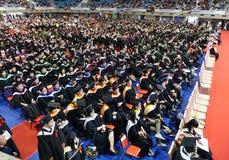 Graduates Listen to a Speech royalty free stock photos
