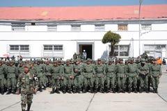 Graduates of Military Academy in Latin America. Graduates of Military Academy, La Paz, Bolivia stock photo