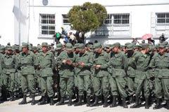 Graduates of Military Academy with new ID. Graduates of Military Academy with new military ID, La Paz, Bolivia royalty free stock photos