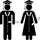 Graduates pictogram Stock Photo
