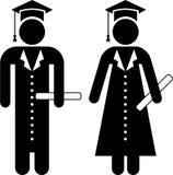 Graduates pictogram Stock Photo