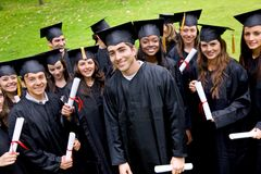 Graduates portrait Royalty Free Stock Photography