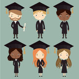 graduates set Royalty Free Stock Images
