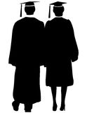 Graduates Silhouette Stock Photography