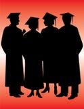 Graduates Silhouettes Stock Images