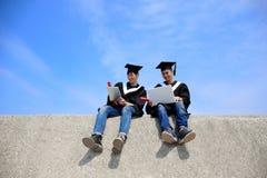 Graduates student use computer Stock Photos