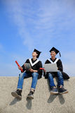 Graduates student use computer Stock Photo