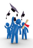 Graduates throwing hat Stock Images